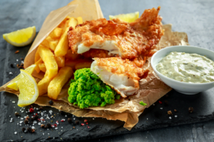 Fish and Chips in paper