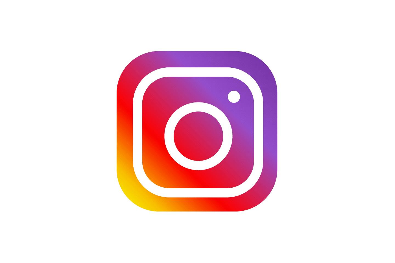 Instagram logo on white backgroun